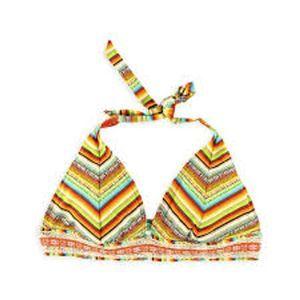 NWT Lucky Brand striped crochet bikini top
